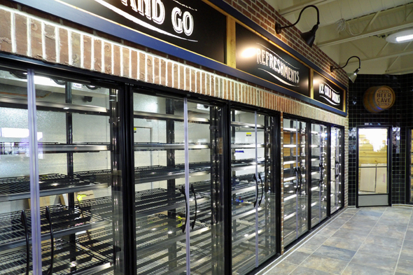 Let us assist you in selecting the best beverage cooler and display door equipment for your bottle beverage sales area.
