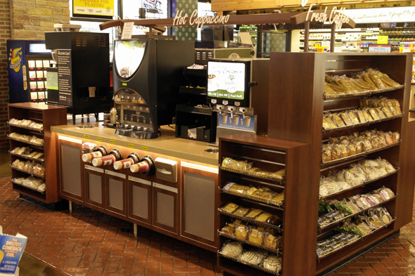 Let us assist you in selecting the best coffee equipment and custom counters for your c-store coffee sales area.